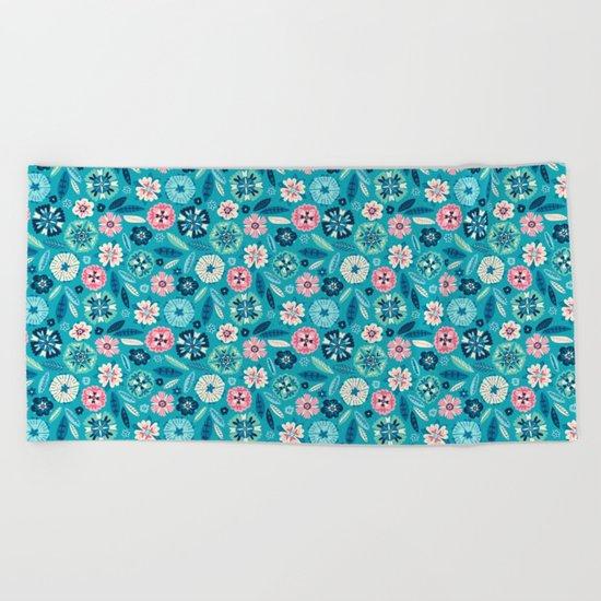 Flower Pop Beach Towel