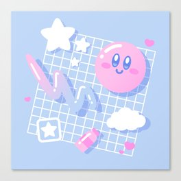 Pink Puff Aesthetic Canvas Print