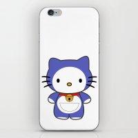 doraemon iPhone & iPod Skins featuring Hello Doraemon by kourai