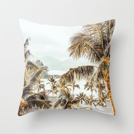 Island View #photography #tropical Throw Pillow