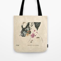 No love in your violence  Tote Bag