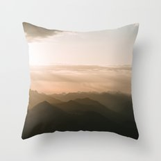 Mountain Sunrise in the german Alps - Landscape Photography Throw Pillow
