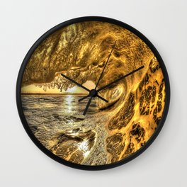 Chris Harsh Photos * Breaking Wave At Dawn Wall Clock