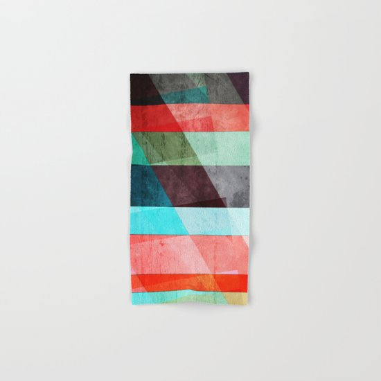 Colorful Grunge Stripes Abstract Hand & Bath Towel