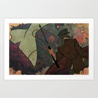moby dick Art Prints featuring Moby Dick by Kindra Haugen