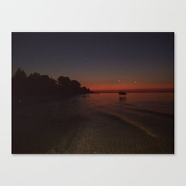 Beach Sunset  Canvas Print