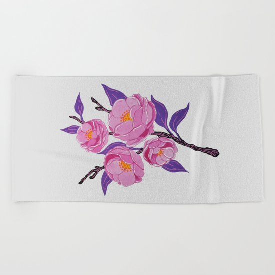 Flower study Beach Towel