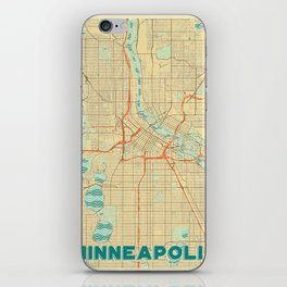 Minneapolis Map Retro iPhone Skin