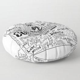 San Francisco Map Illustration Floor Pillow