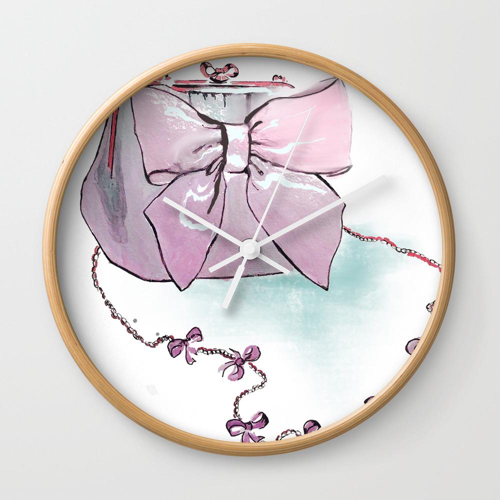Pink Purse Wall Clock by gracefulbrush (CLK8974954) photo