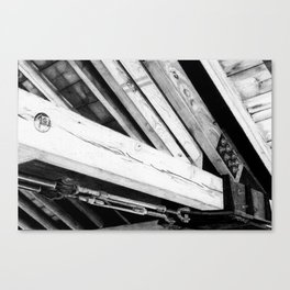 Wood and Steel Canvas Print