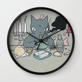 Noodle Eater Wall Clock