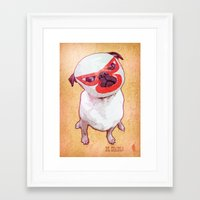 diablo Framed Art Prints featuring El Diablo by rubbishmonkey