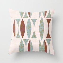 Seventies Lake  Throw Pillow