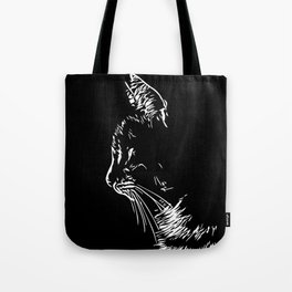 cat in the dark Tote Bag