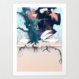 chicken in wonderland Art Print