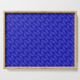 Tiled pattern of dark blue rhombuses and triangles in a zigzag. Serving Tray