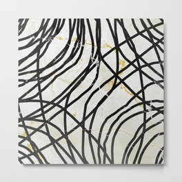 Abstract Mess - minimal, marbled, simple, modern design Metal Print