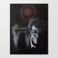 vonnegut Canvas Prints featuring Kurt Vonnegut by MucklowArt