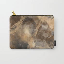 Stormy Abstract Art in Brown and Gray Carry-All Pouch