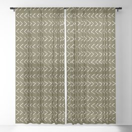 Arrows on Bronze-Olive Sheer Curtain