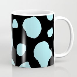 Cow Print Duck Egg Blue Background Coffee Mug