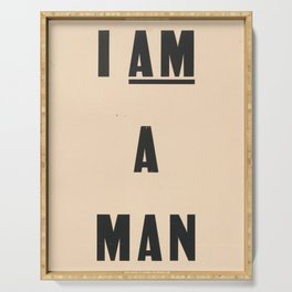 I am a Man Vintage Civil Rights Protest Poster, 1968 Serving Tray