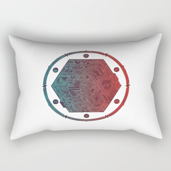 The Folly of Time and Space, Explained Rectangular Pillow