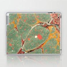 Marbled Green Orange 2 Laptop & iPad Skin