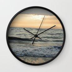 Summer Beach Sunset Wall Clock