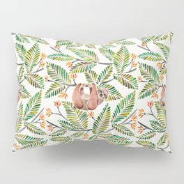 Happy Sloth – Tropical Green Rainforest Pillow Sham