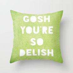 Gosh (Delish)  Throw Pillow