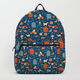 Farm Blue Pattern Backpack