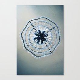 Blue chandelier Canvas Print
