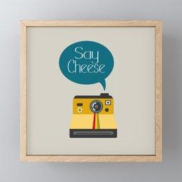 Say Cheese Framed Mini Art Print