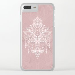 Blush pink mandala Clear iPhone Case