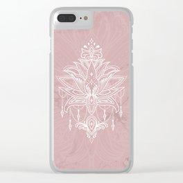 Blush pink mandala Clear iPhone Case