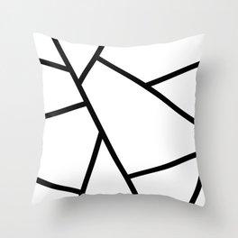 Black and White Fragments - Geometric Design I Throw Pillow