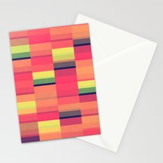 Color Blocks Pattern Stationery Cards