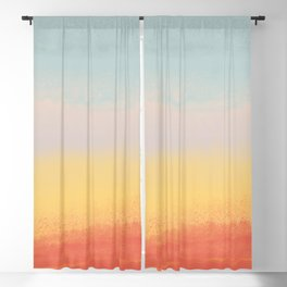Ceramic Sunset // Multi Color Speckled Drip Summer Beach California Surf Vibes Wall Hanging Design Blackout Curtain