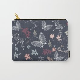 Pretty provance floral pattern in rustic style Carry-All Pouch