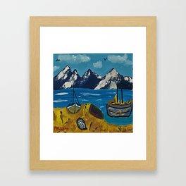 Mediterranean Village Framed Art Print