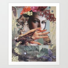 Orchids and Butterflies Art Print