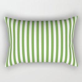 CVS0076 Avocado Green and White Stripes Pattern Rectangular Pillow