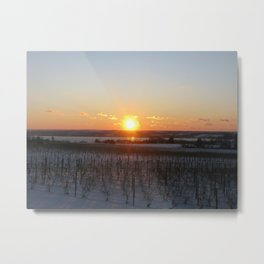 Stoney Lonesome Sunset Metal Print