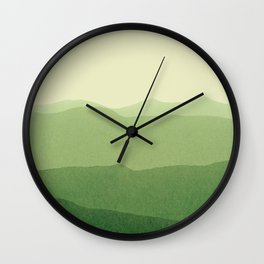 gradient landscape green Wall Clock