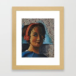After: Lady Standing at a Virginal Framed Art Print