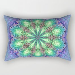 Blue Vintage Flower Background Pattern Rectangular Pillow