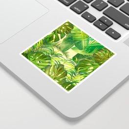 Tropical Leaf Pattern 03- Banana, Palm Leaf, Monstera Leaf - Green, Freshness, Tropical, Botanical Sticker