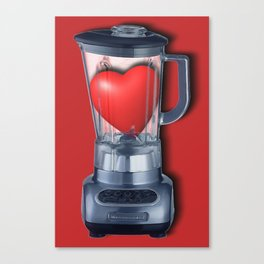 Heart Series Love Blenders Love Valentine Anniversary Birthday Romance Sexy Red Hearts Canvas Print
